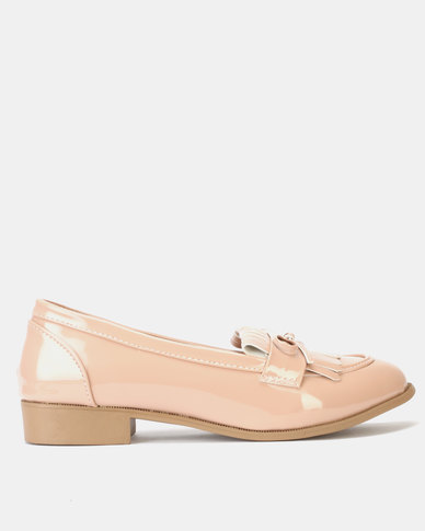 Legit Loafer with Fringing & Bow Detail Blush