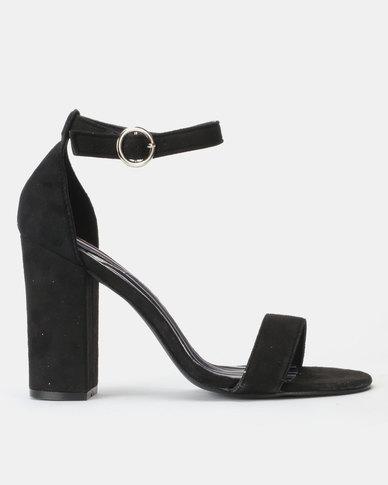 Legit Striped In-sock Block Heels Black