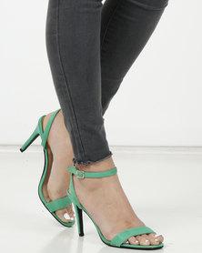 Legit Banded Mule Thin Cross Back Ankle-strap Green