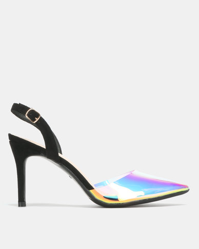 Miss Black Jamie Slingback Sandals Black