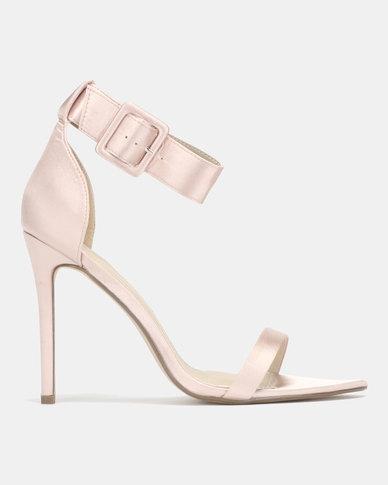 Miss Black Bouvardia Ankle Strap Sandals Gold