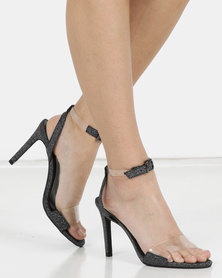 Miss Black Punkin Clear Ankle Strap Sandal Black