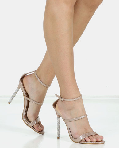 Miss Black Senna Ankle Strap Sandal Gold