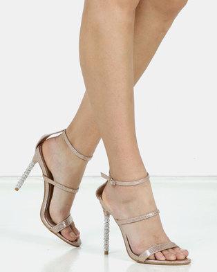 Miss Black Senna Ankle Strap Sandal Gold