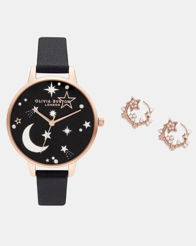 Olivia Burton Ramadan Gift Set Black & Rose Gold