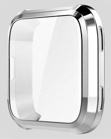 Gretmol Fitbit Versa Protective Case Cover Silver
