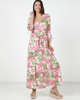 Utopia Fern Print Maxi Dress Pink