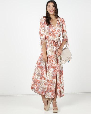 Utopia Fern Print Maxi Dress Neutral