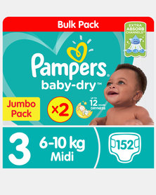 Pampers Active Baby Midi Jp 2X76 Twin Pack