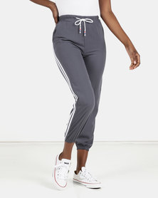 Utopia Side Stripe Joggers Grey