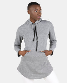 Utopia Longer Length Sweatshirt Grey