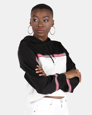 Utopia Colourblock Sweattop Black/White