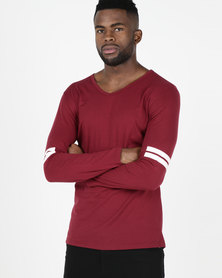 Utopia Long Sleeve T-shirt Burgundy