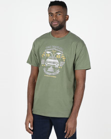 Utopia Time Travel T-shirt Olive