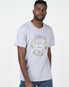 Utopia Time Travel T-shirt Grey