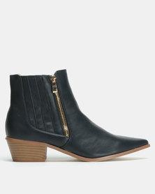 Jada Elastic Gusset Boots Navy