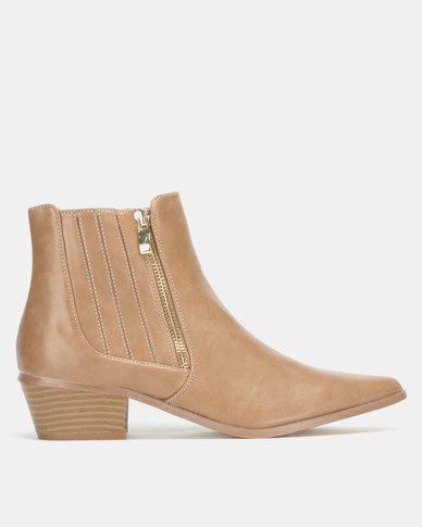 Jada Elastic Gusset Boots Clay