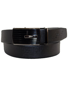 FINO BLACK GENUINE LEATHER FORMAL BELT WITH AUTOMATIC BUCKLE