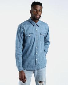 Classic Western Shirt Blue