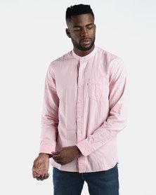 Mandarin One Pocket Shirt Pink
