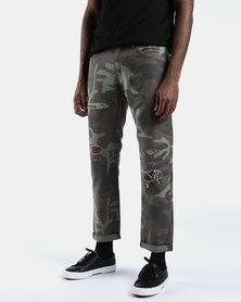 Hi-Ball Roll Jeans Camo Khaki