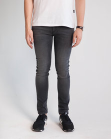 Emme Jeans Slimfit Aged Jeans Black