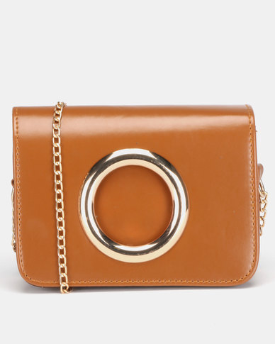 All Heart Ring Detail Crossbody Bag Tan