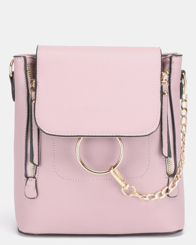 All Heart Ring Detail Backpack Lilac