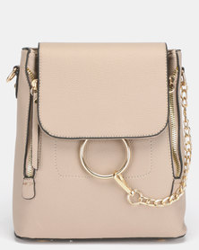 All Heart Ring Detail Backpack Nude