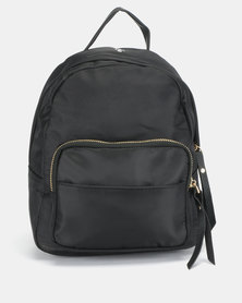 All Heart Front Pocket Backpack Black