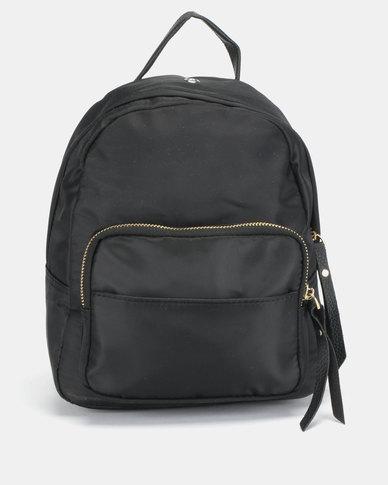 All Heart Front Pocket Backpack Black