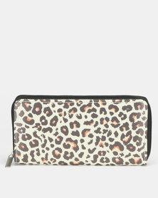 All Heart Wild Zip Around Purse Leopard