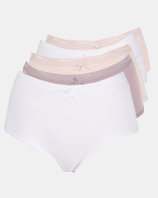 Playtex 5 Pack Cotton Full Brief Multi