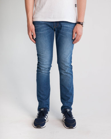 Emme Jeans Slim Fit Medium Wash Jeans Blue