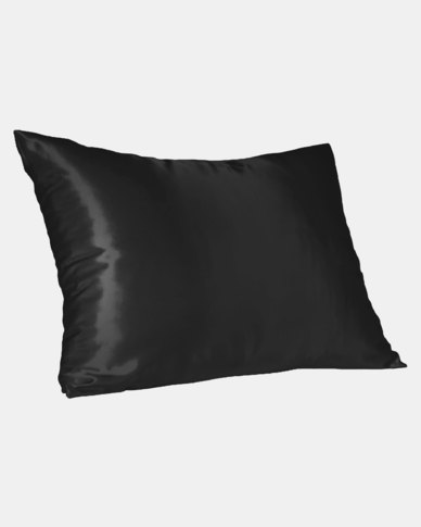 Black Standard Satin Pillow Slip Dear Deer