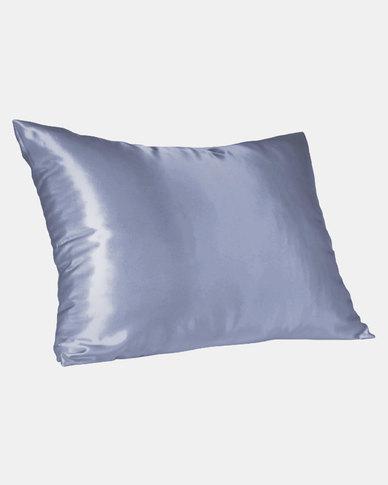 Blue Standard Satin Pillow Slip Dear Deer