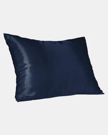 Navy Standard Satin Pillow Slip Dear Deer