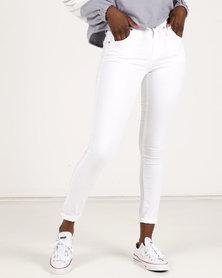 Brave Soul Skinny Jeans White
