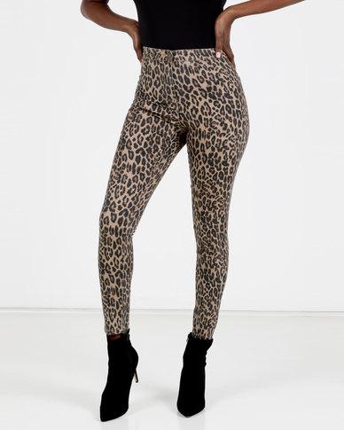 Brave Soul Printed Skinny Jeans Mutli