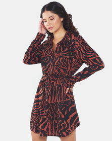 Brave Soul Printed Shirt Dress Multi