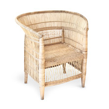 DeskStand Single-Seater Traditional Malawi Cane Chair Natural