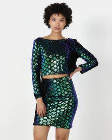 I Am Woman Krista two-piece Dress Green