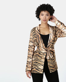 I Am Woman Jungle Jacket Tiger Print