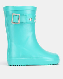 Shooshoos Palm Springs Wellington Boots Green