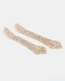 Lily & Rose Diamante Bell Shape Drop Earrings Clear