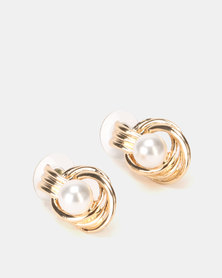 Lily & Rose Pearl In Twisty Earrings Gold