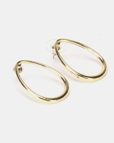 Lily & Rose Open Teardrop Earrings Gold