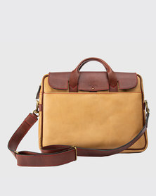 Zvitang Cambridge Laptop Bag Tan