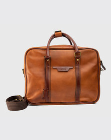 Zvitang Harvard Laptop Bag Saddle Tan