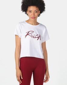 RVCA Inkwell Boxy Crop White